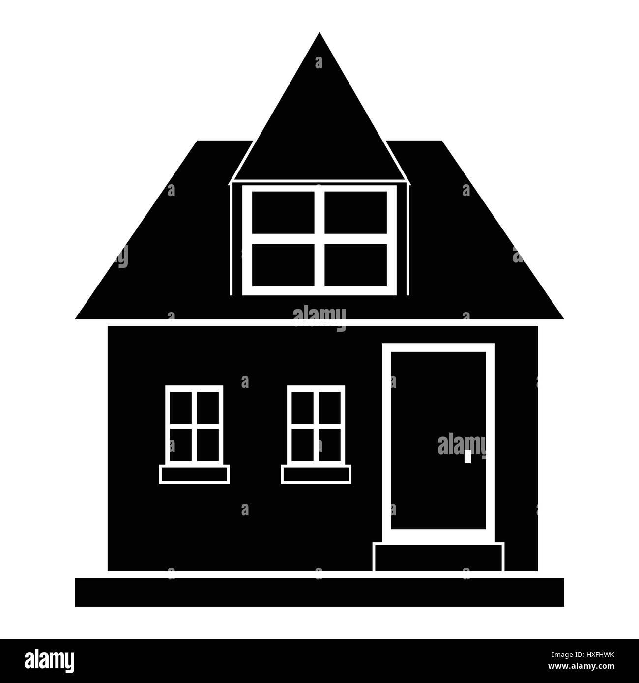Modernes Haus-Symbol, einfachen Stil Vektor Abbildung - Bild ...