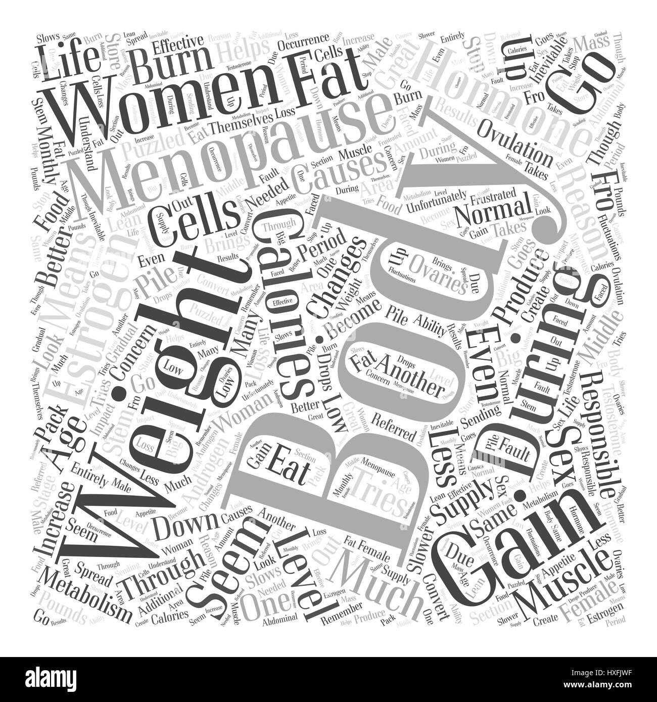 menopause gewichtszunahme