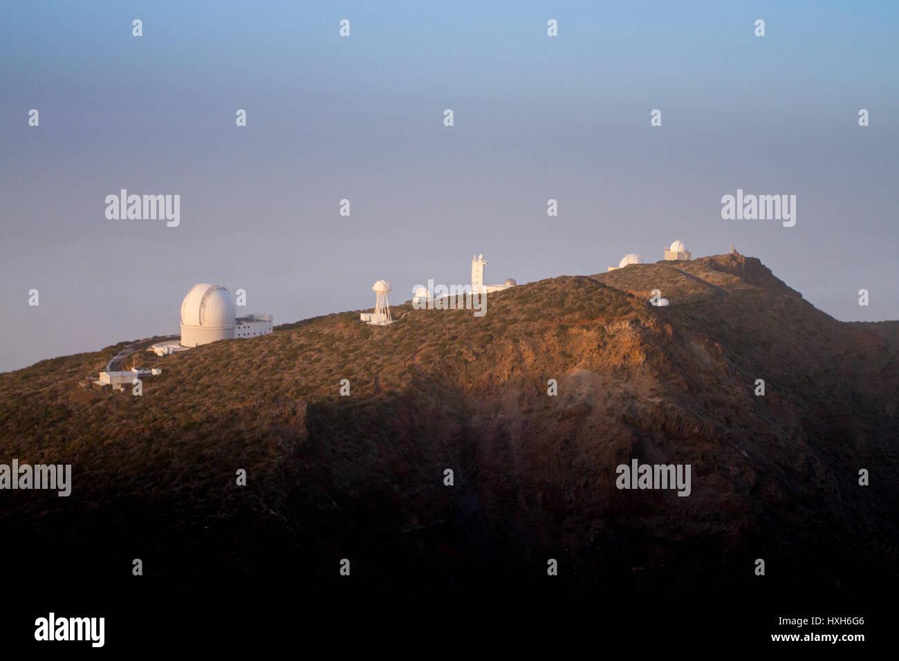 Sternwarte von La Palma, Kanarische Inseln Stockbild