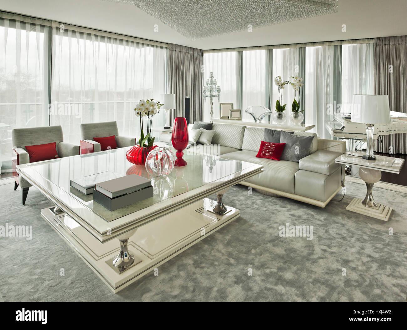 Interior Design Room Panoramic Windows Stockfotos & Interior Design ...