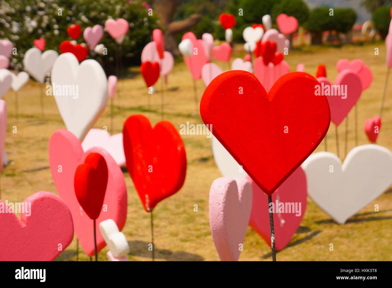 Valentinstag Wallpaper Liebe Romantische Thema Viele Rote Form Im