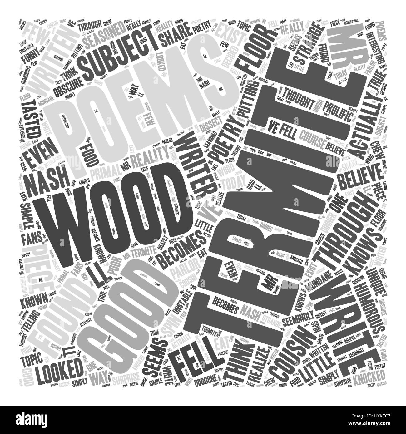 Termite Gedichte Word Cloud-Konzept Stock Vektor