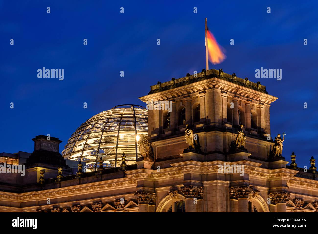 Reichstag, Sitz des Deutschen Bundestages in Berlin Stockbild