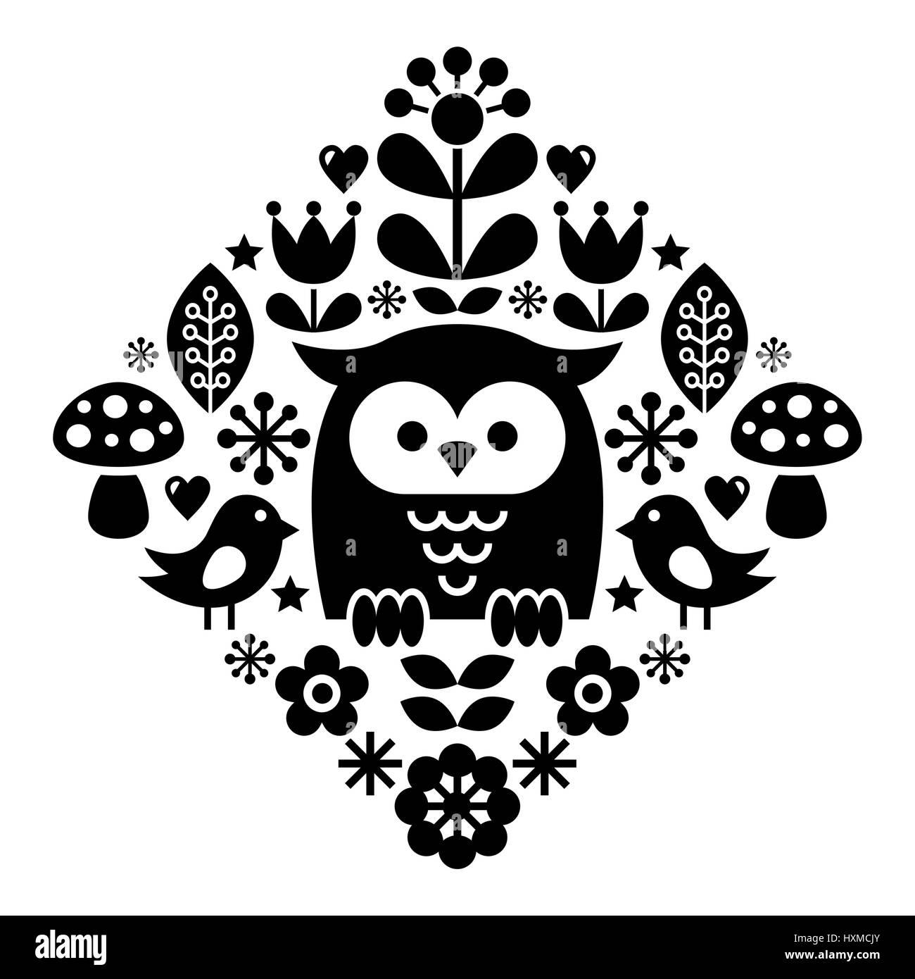 Schwedische traditionelle muster  Skandinavische Muster, nordischen Volkskunst - inspiriert von ...