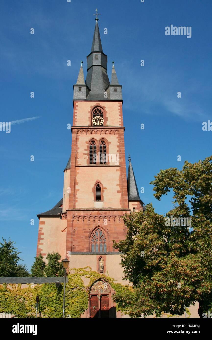 Kirche in Kiedrich Stockbild