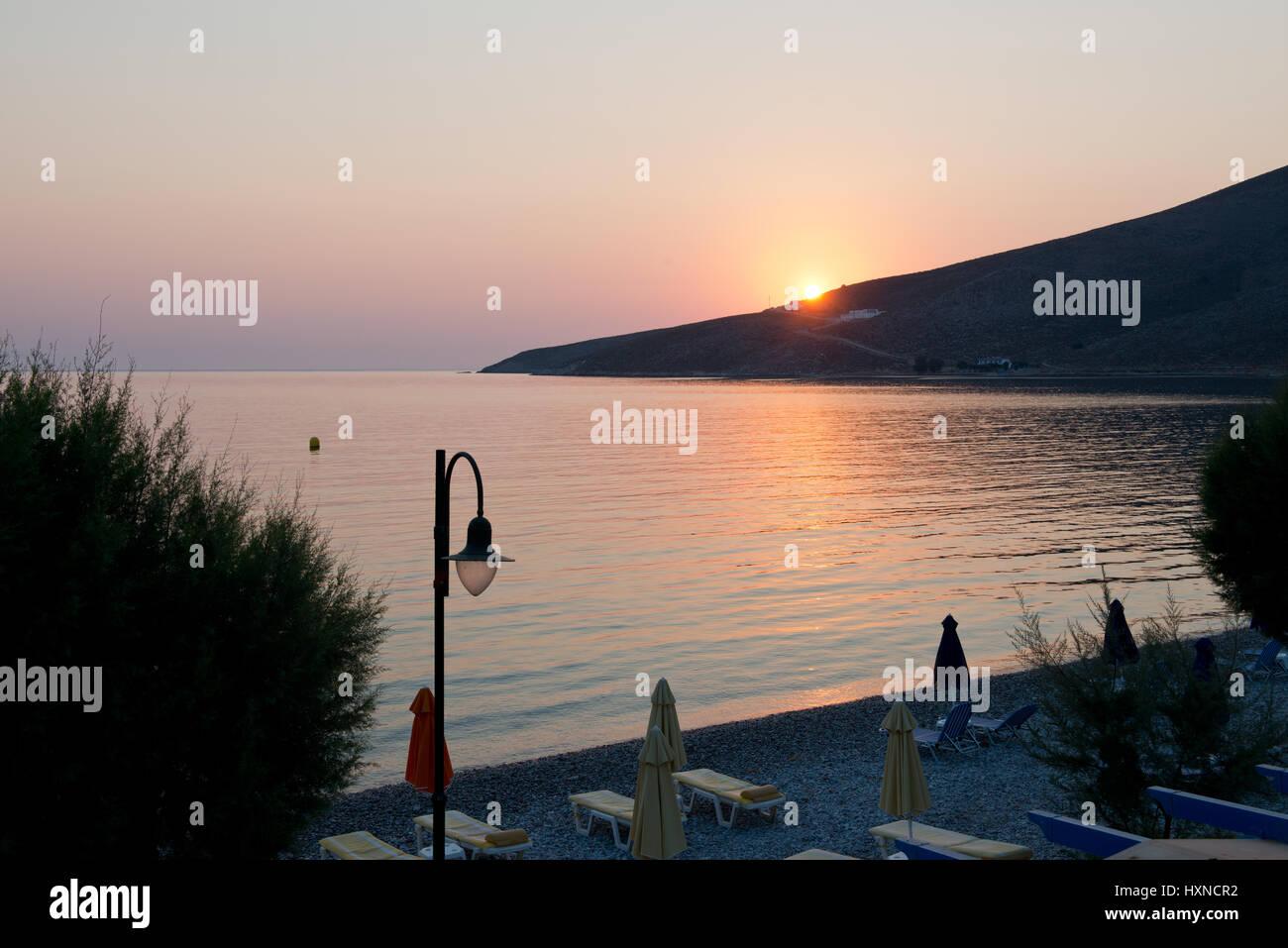 Tilos Insel, Dodekanes, Griechenland Stockbild
