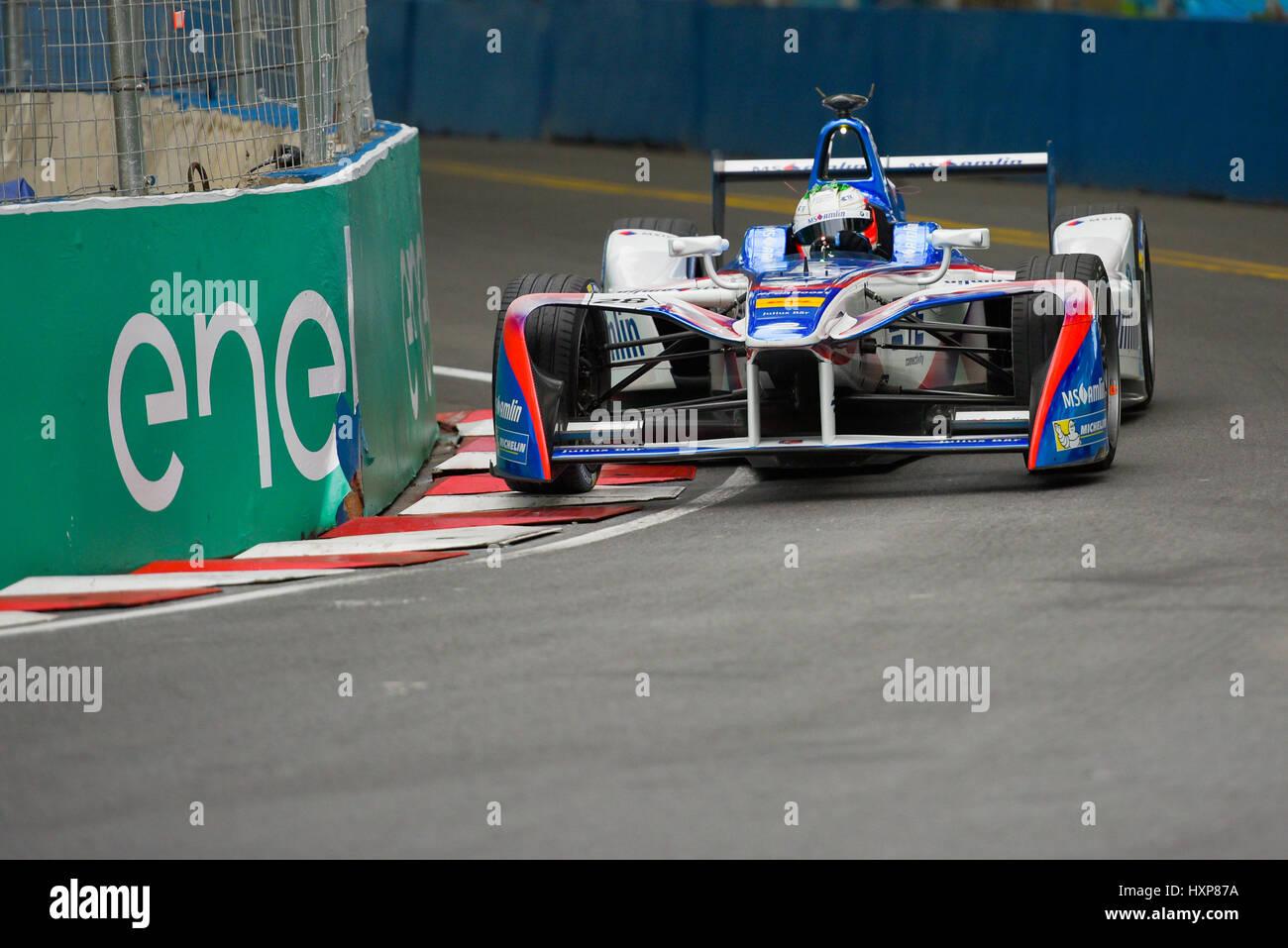 Buenos Aires, Argentinien. 18. Februar 2017. Andretti Formel E Fahrer Antonio Felix da Costa von Portugal, Praktiken Stockbild