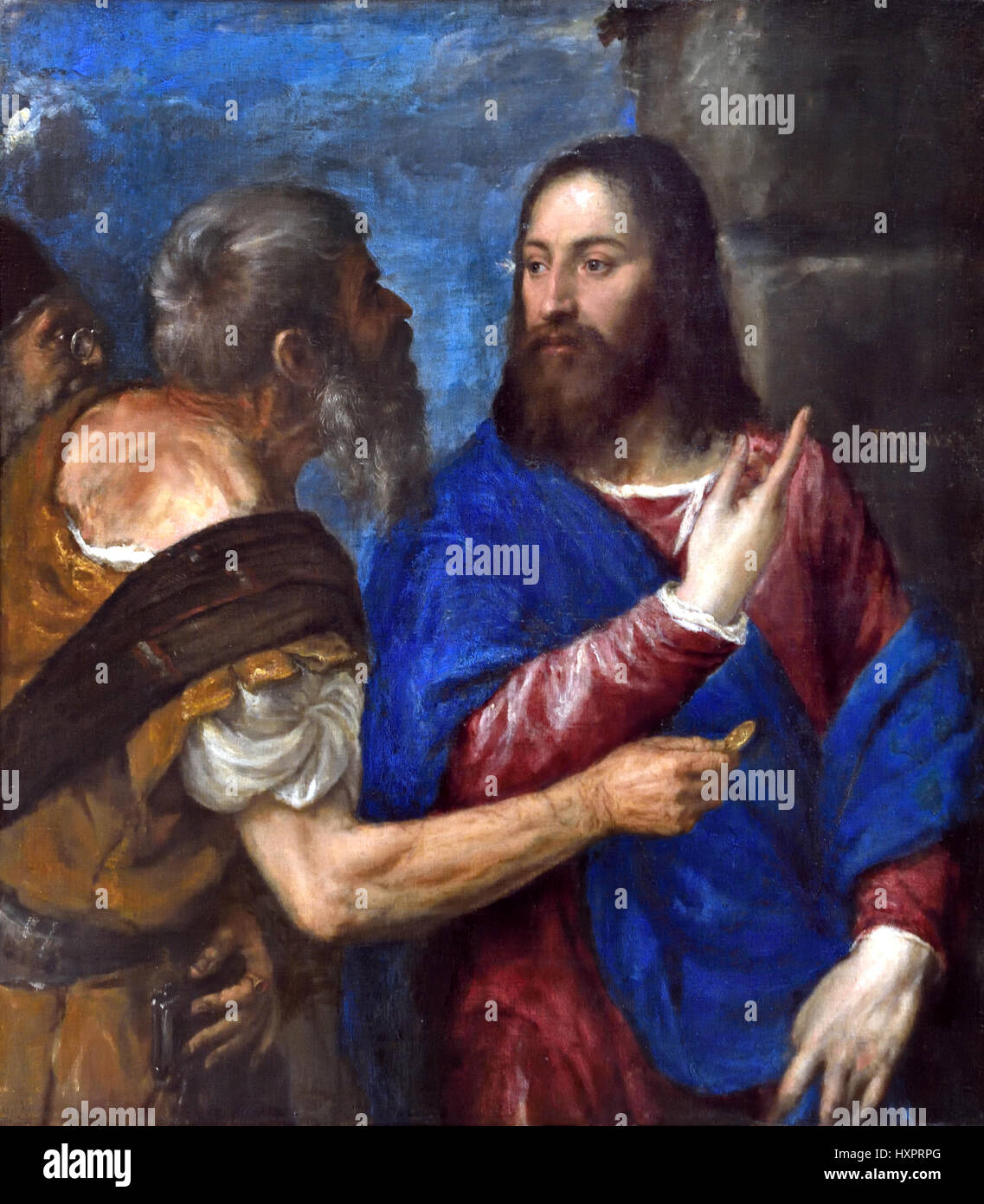 Der Tribut MoneyTitian 1560-8 Tiziano Vecelli oder Tiziano Vecellio1490 ? 1576) Tizian italienischer Maler aus dem Stockbild