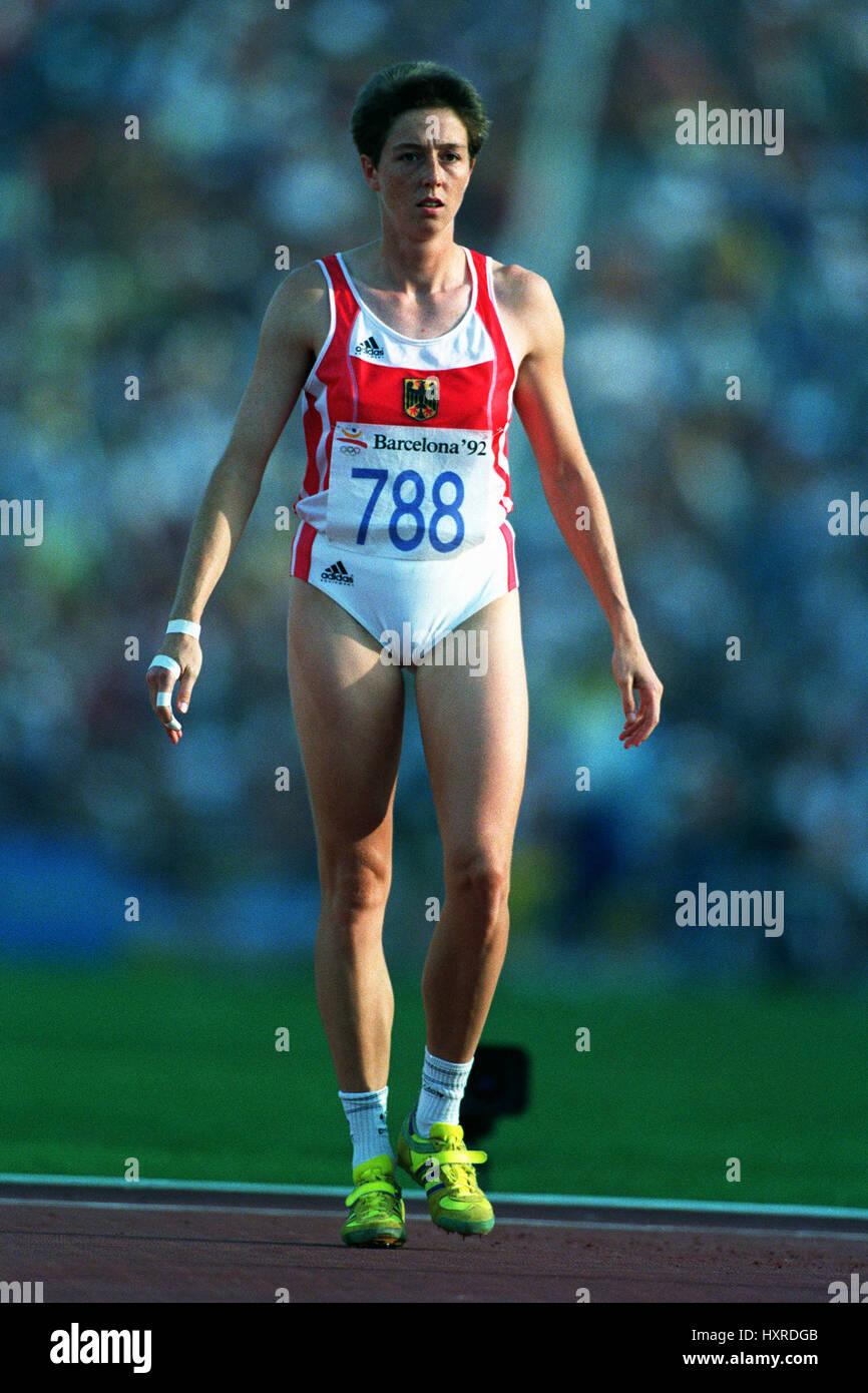 Sabine Braun Siebenkampf 19 August 1992 Stockfotografie Alamy