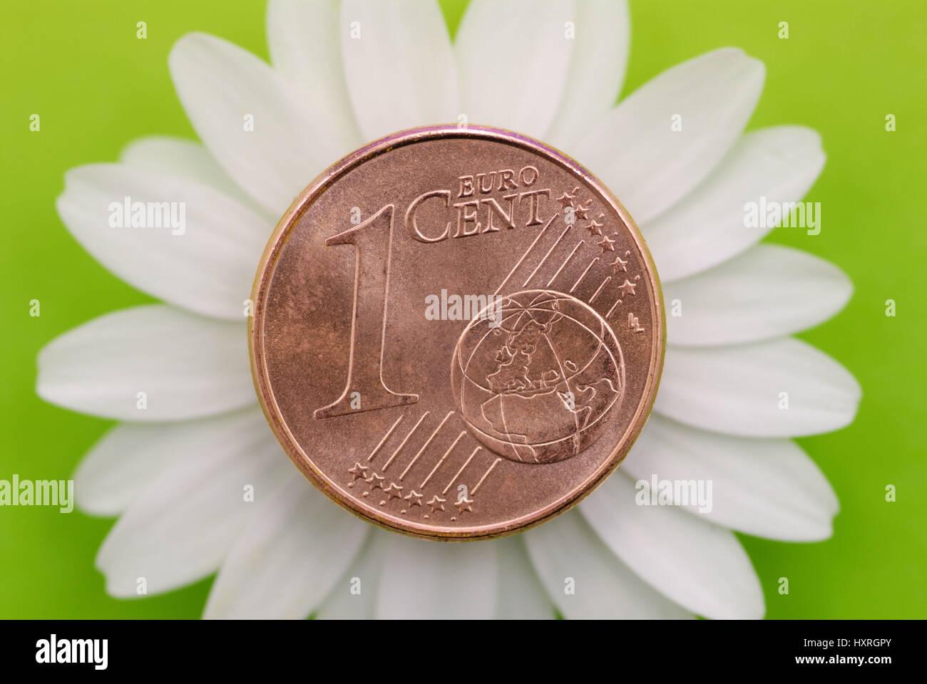 1 Cent Münze Klimarappen Ko Cent Cent Ein Cent Münze Ein Euro