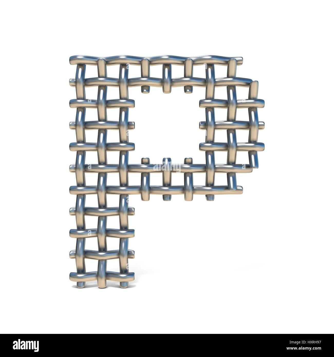 Silver Steel Wire Font Letter Stockfotos & Silver Steel Wire Font ...