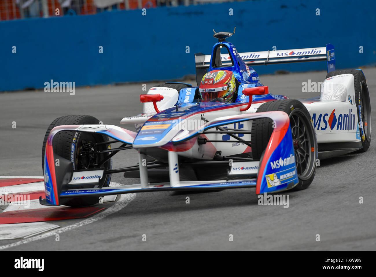 Buenos Aires, Argentinien. 18. Februar 2017. Andretti Formel E Fahrer Robin Frijns Niederlande, Praktiken in der Stockbild