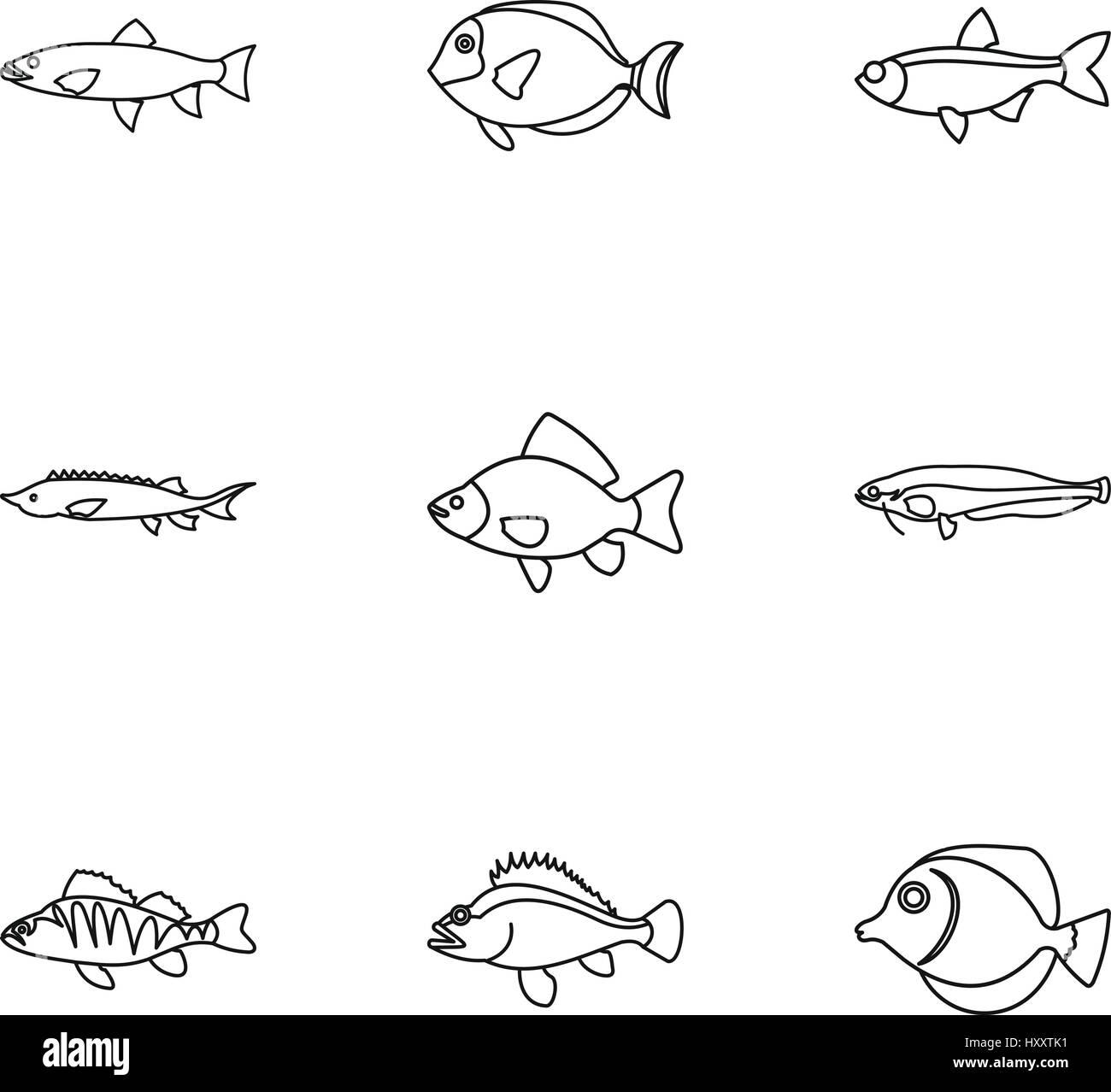 Gemütlich Fisch Umriss Färbung Seite Zeitgenössisch ...