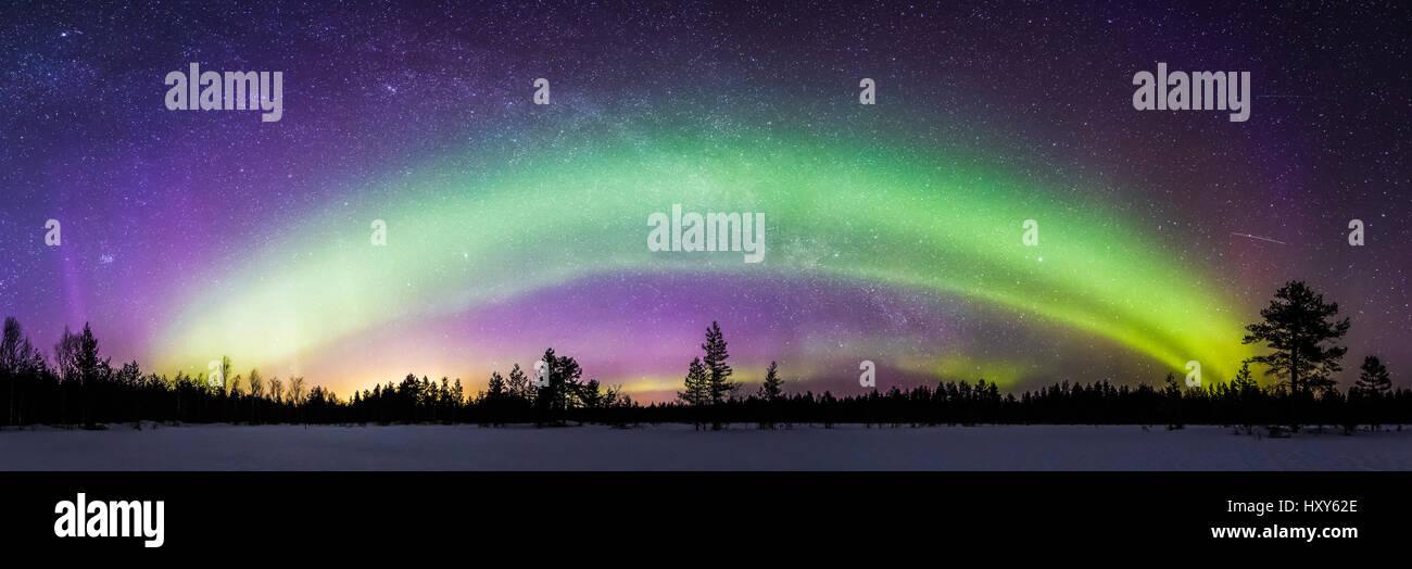Aurora-Bogen Stockbild