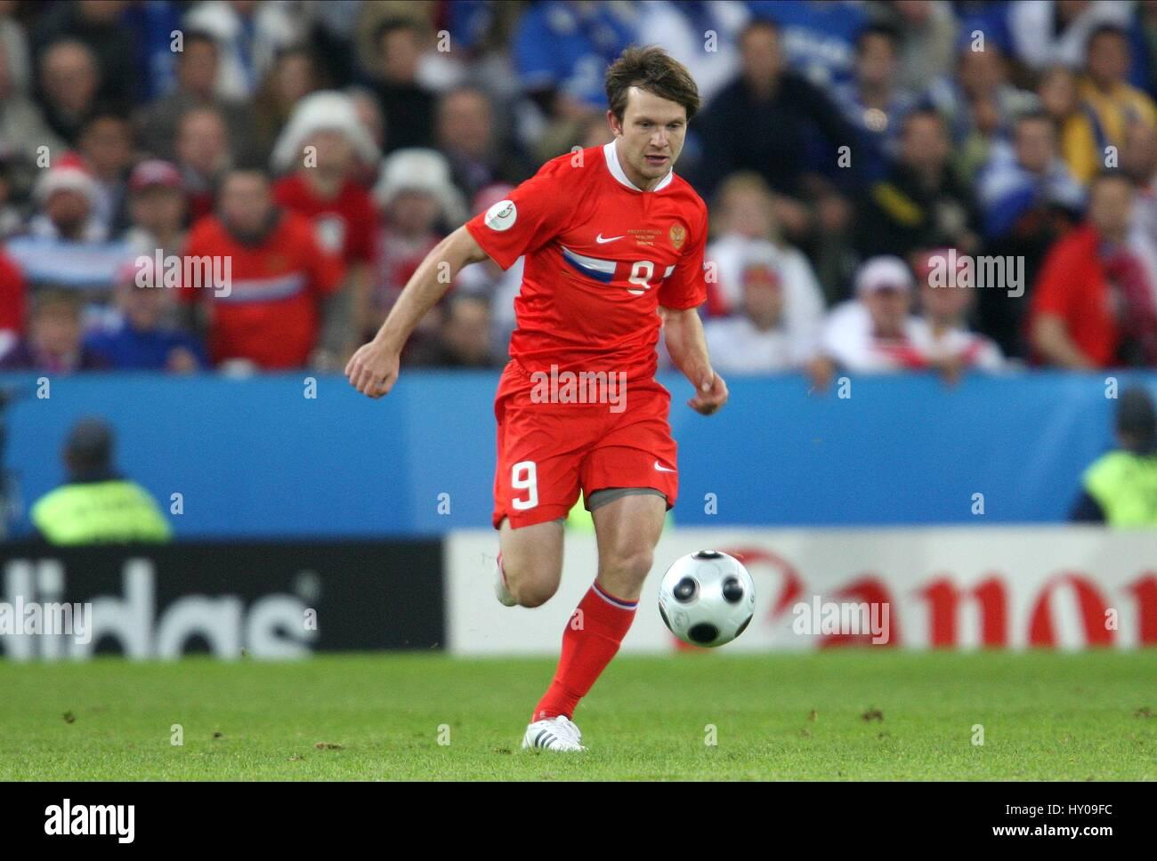 IVAN SAENKO Russland & FC Nürnberg EM-STADION SALZBURG Österreich 14. Juni 2008 Stockbild