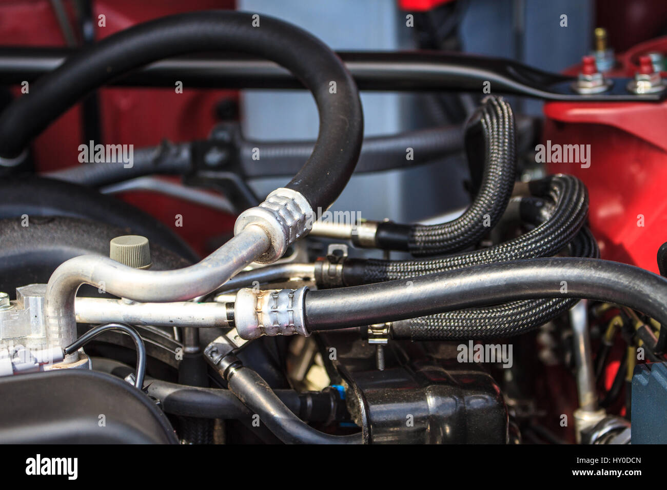 Car Engine Fragment Automobile Motor Stockfotos & Car Engine ...