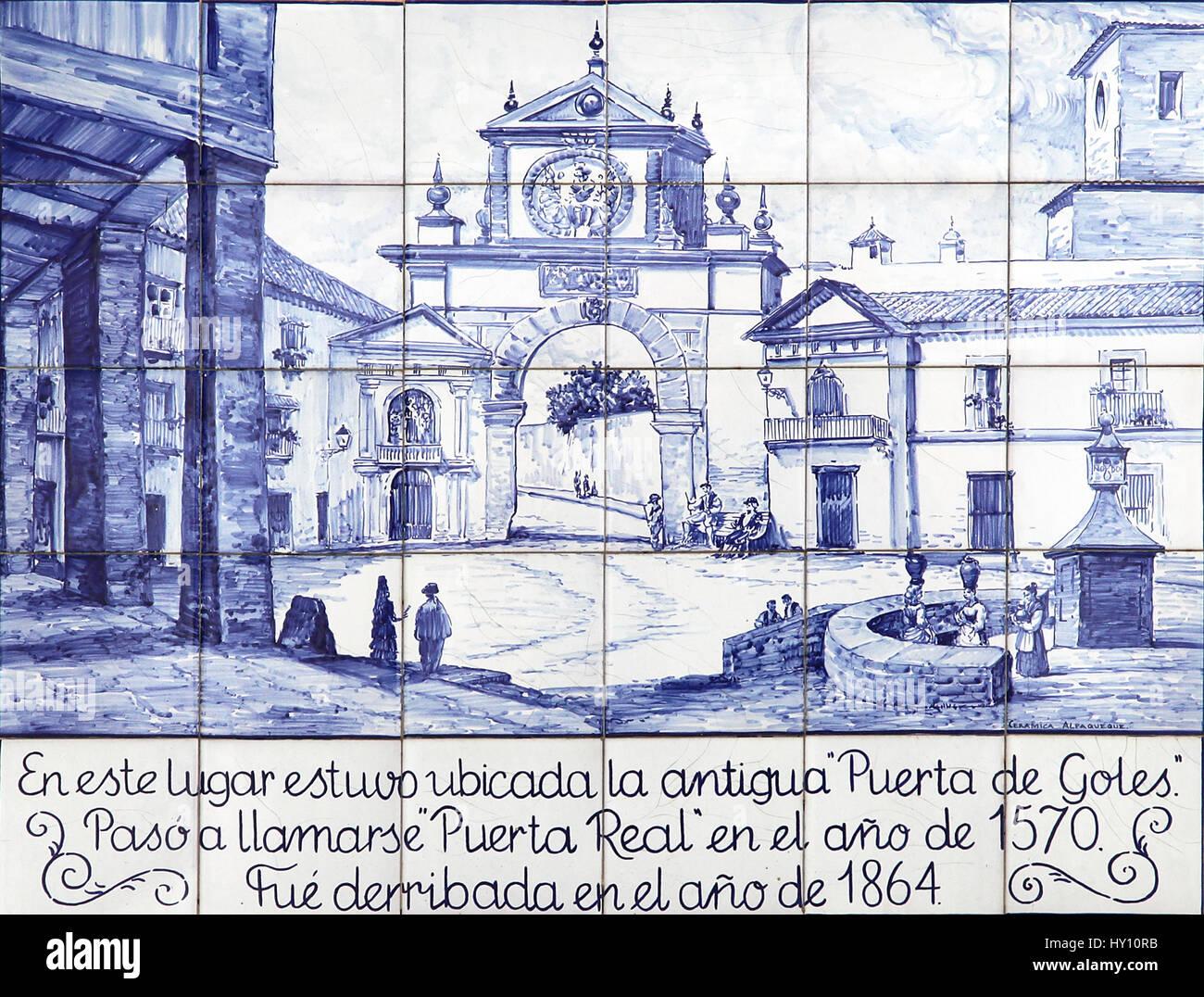 Azulejo in Form von bemalten Zinn-glasierte Keramik tilework.found ...
