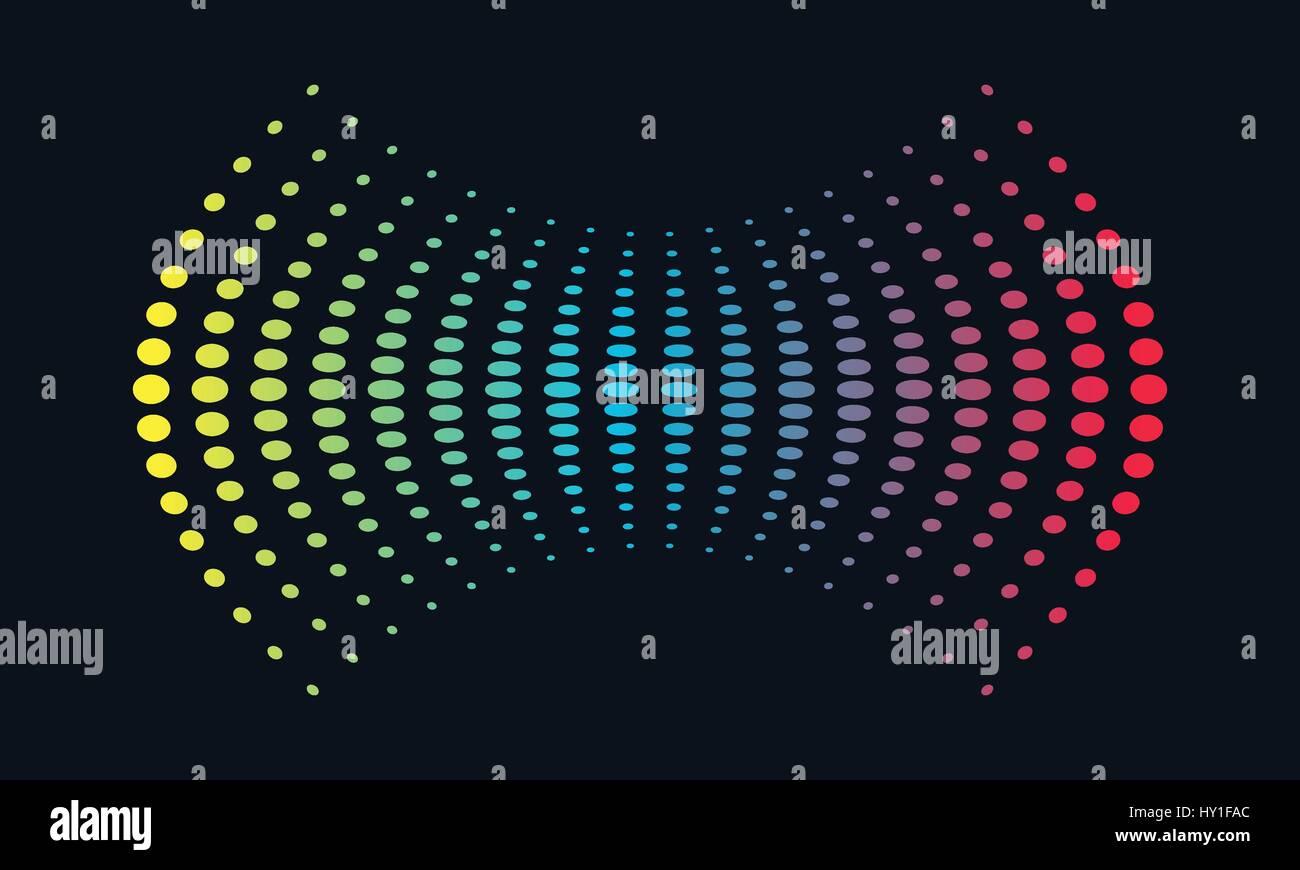 Musik Logokonzept Schallwelle, Audiotechnik, abstrakte Form Stockbild