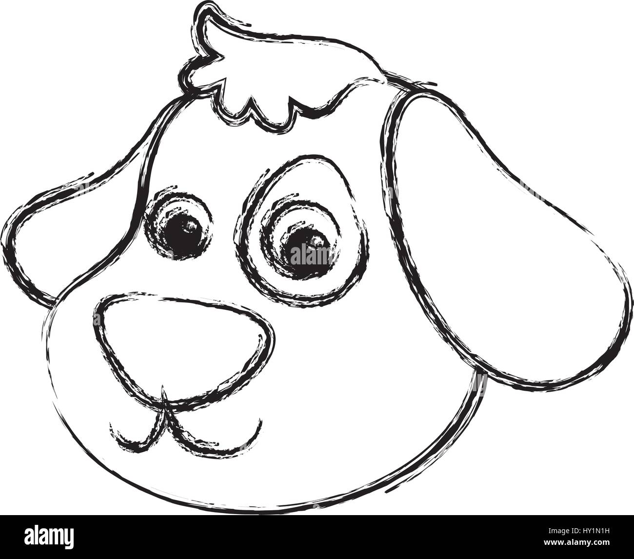 Dog Cartoon Drawing Head Vector Stockfotos Dog Cartoon Drawing