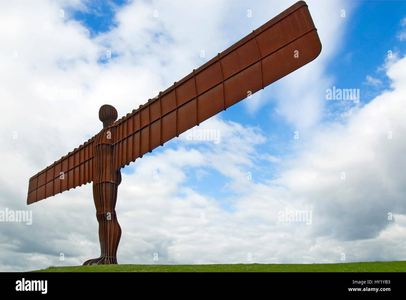 """Die """"Angel of the North"""" in der Nähe der Stadt Gateshead, Nord-Ost-England.  Der """"Angel of the Stockbild"""