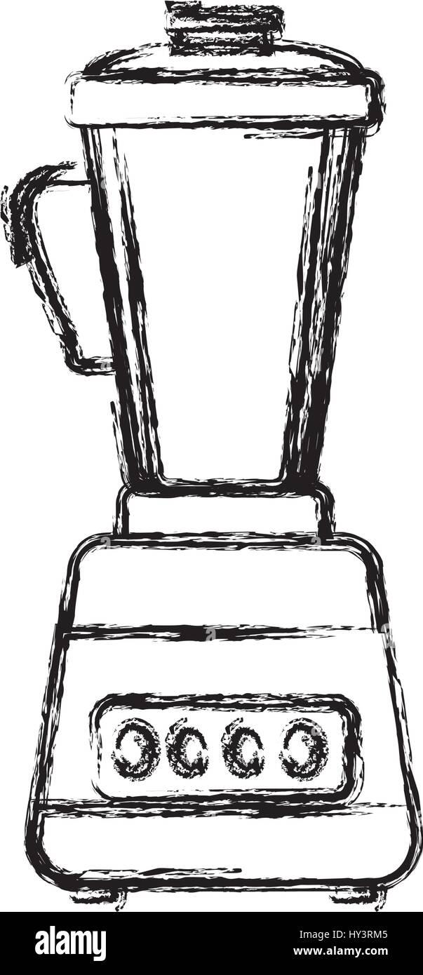 Mixer Maschine Haushaltsgerät Vektorgrafik-Symbol Vektor Abbildung ...
