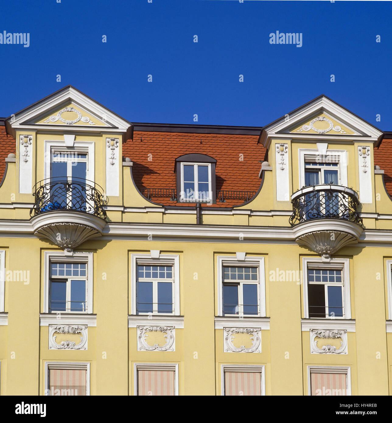 Sehr Deutschland, Bayern, München, Jugendstil Gebäude, gelbe Fassade WJ96