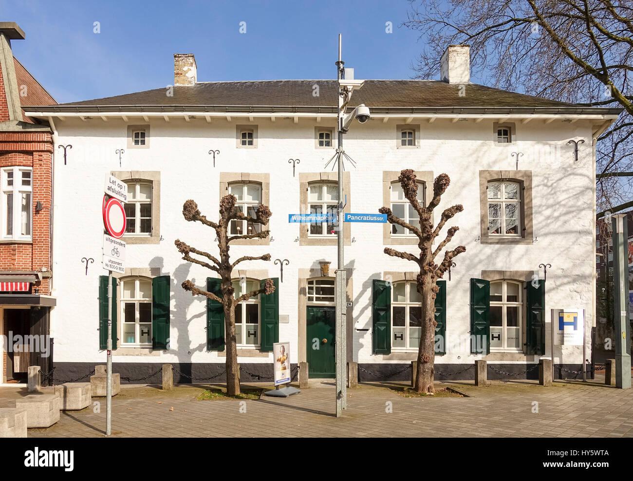 Alte niederländische Haus, 17. Jahrhundert, Toon Hermans Huis Parkstad Organisation, Heerlen, Limburg, Niederlande Stockbild