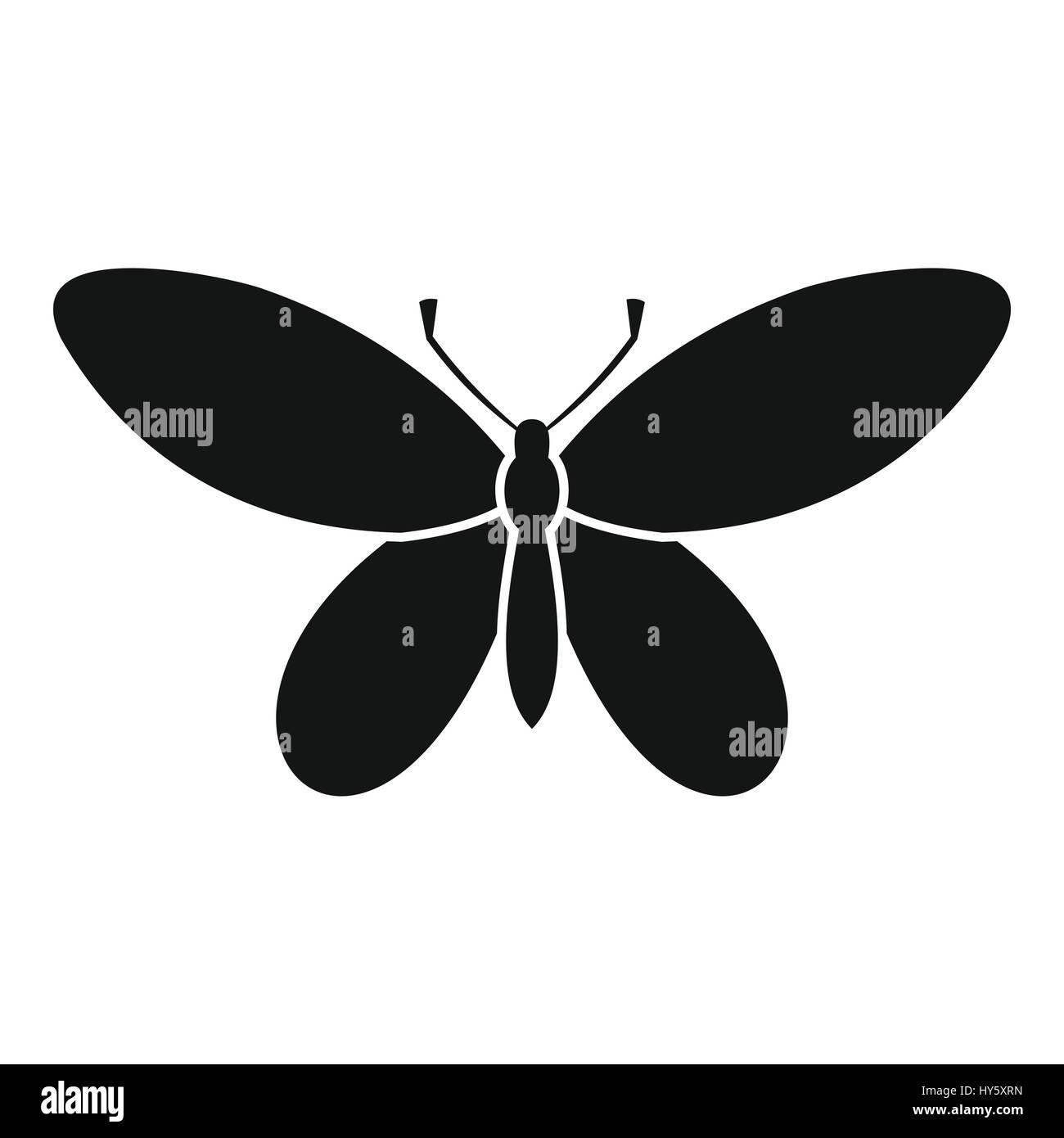 Schmetterling mit Antennen Symbol, einfachen Stil Vektor Abbildung ...