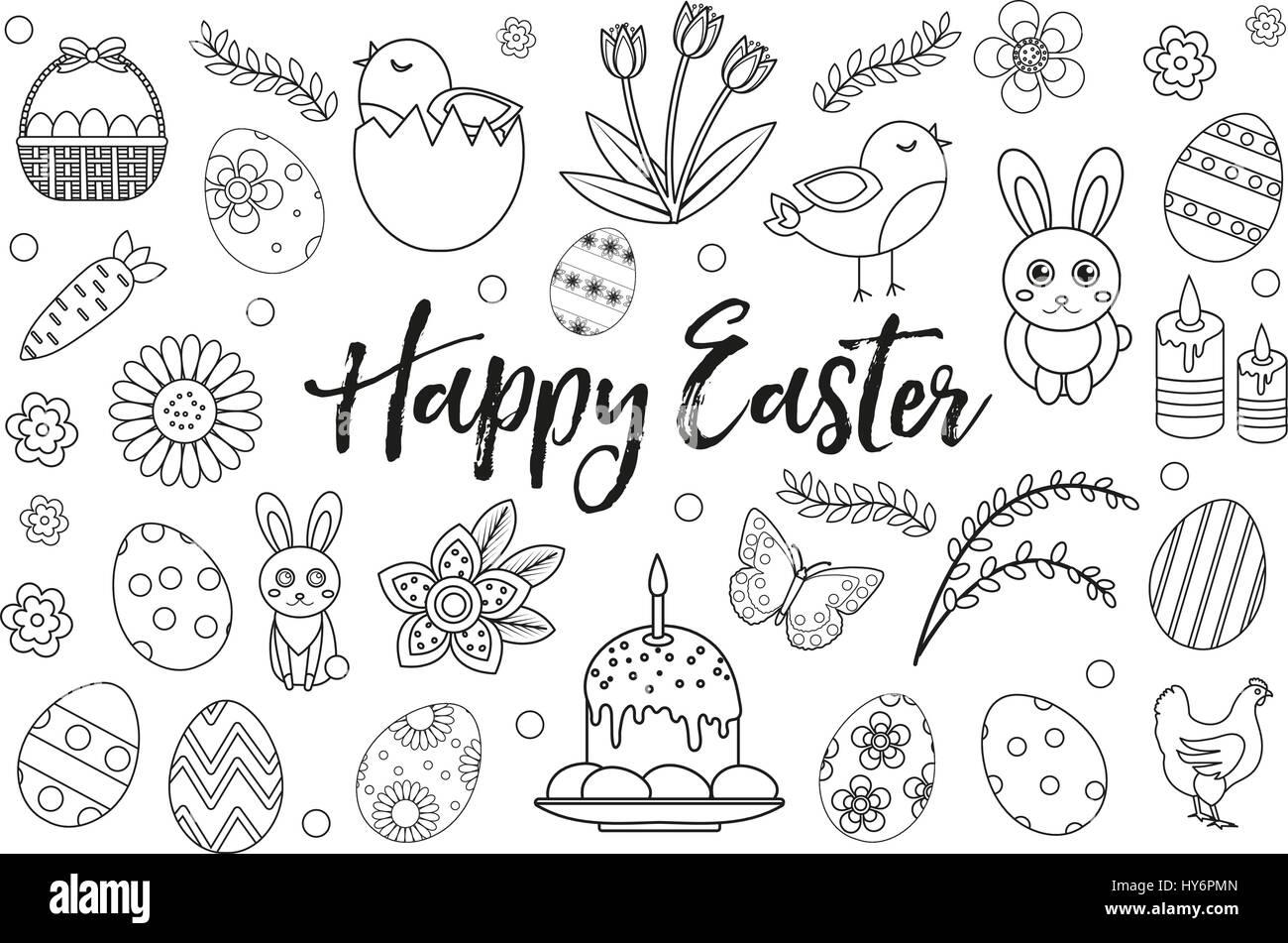 Glückliches Ostern Auflistungsobjekt Gestaltungselement ...