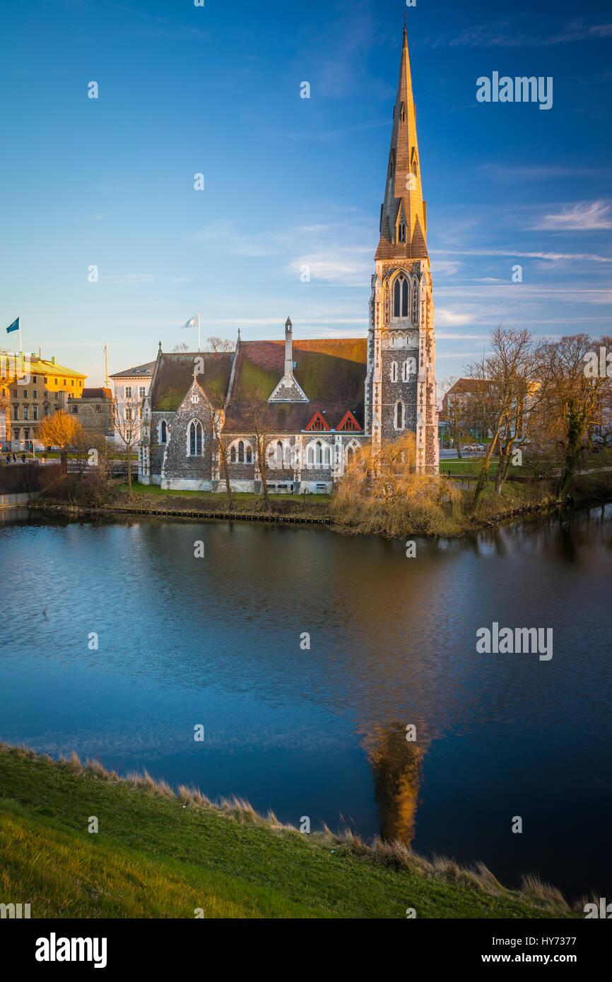 St. Alban-Kirche vor Ort ist oft einfach als die englische Kirche, die anglikanische Kirche in Kopenhagen, Dänemark. Stockbild