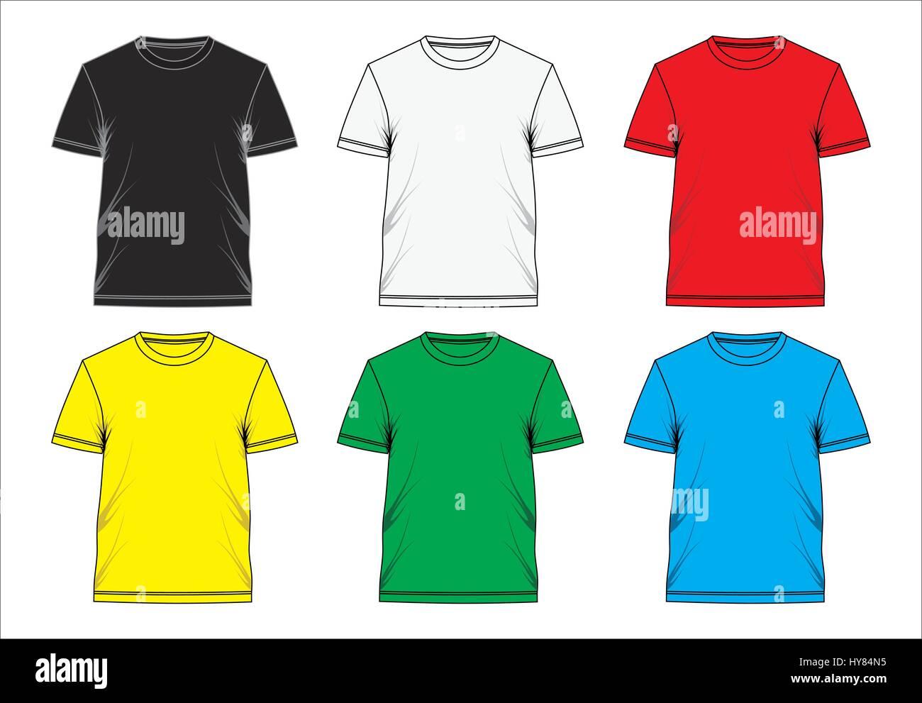 Beispiel Design Vorlage T Shirt leer, Vektor Vektor Abbildung - Bild ...