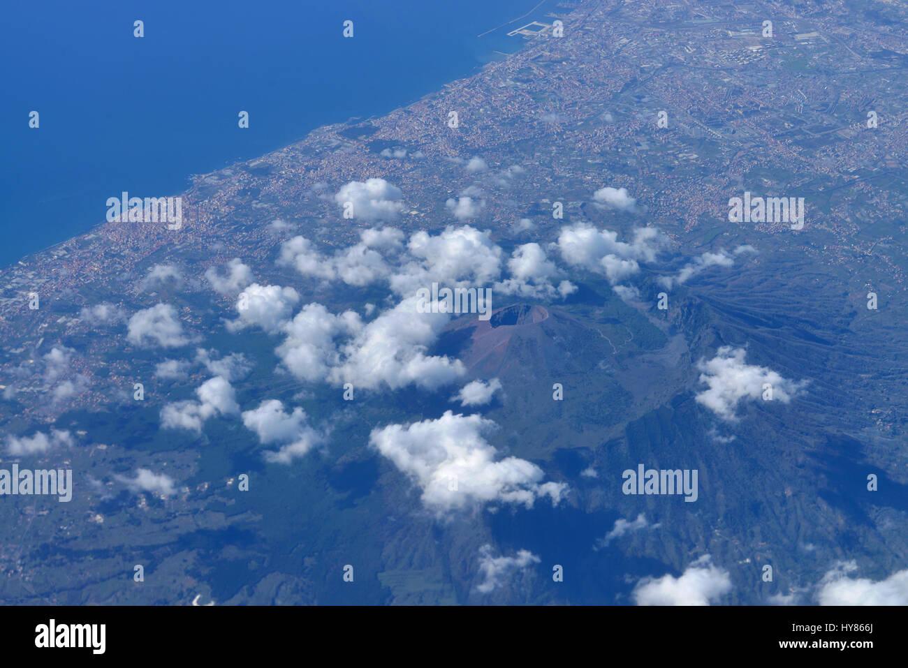 Vulkan, Vulkan, Vesuv, Vesuv, Italien, Italienisch Stockbild