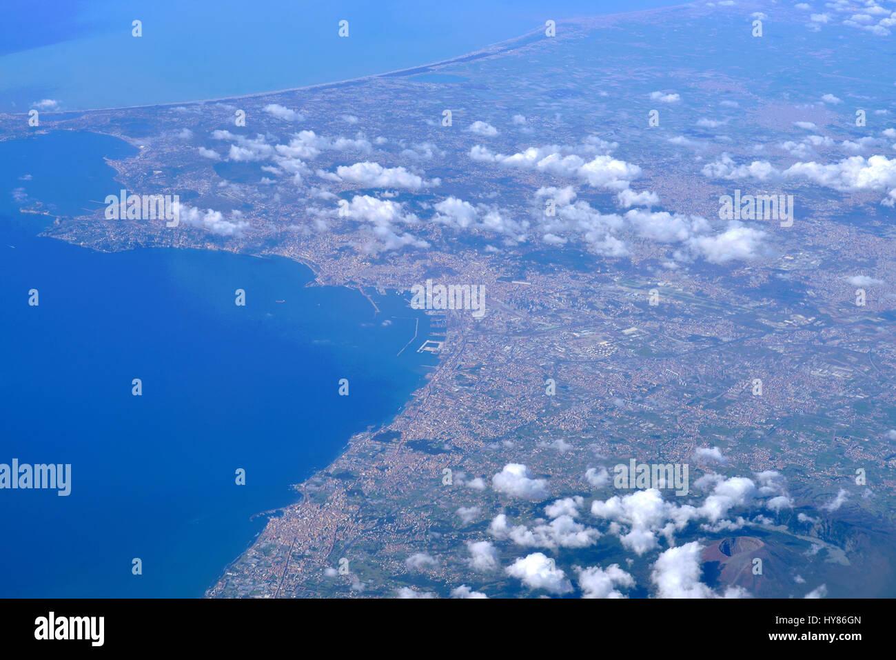 Neapel, Vulkan Vesuv, Italien, Neapel, Vulkan, Vesuv, Italienisch Stockbild