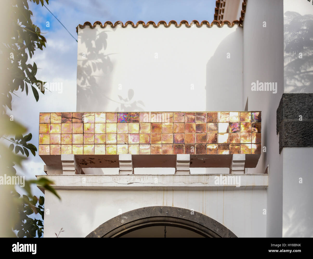 Kreative Kunstlerische Spanische Hauser Stockfoto Bild