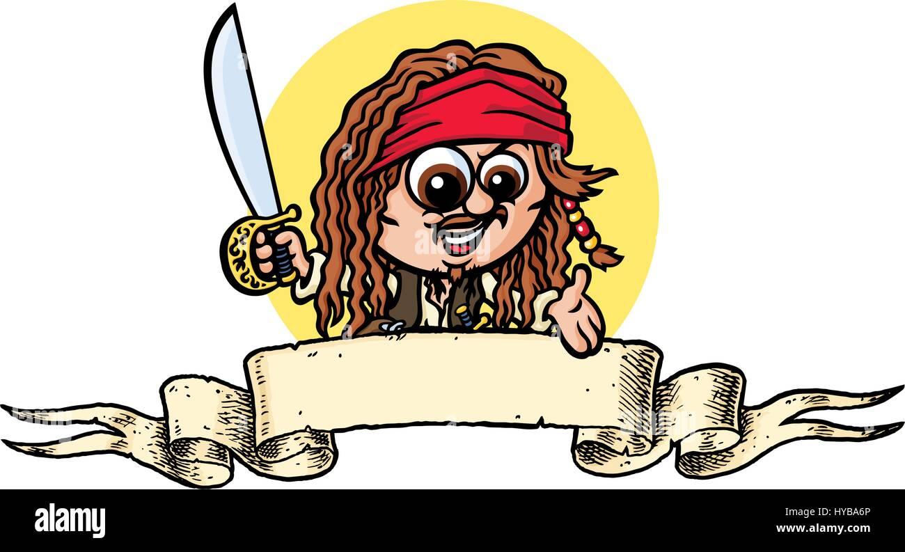 Pirate. Vector Illustration. Stockbild