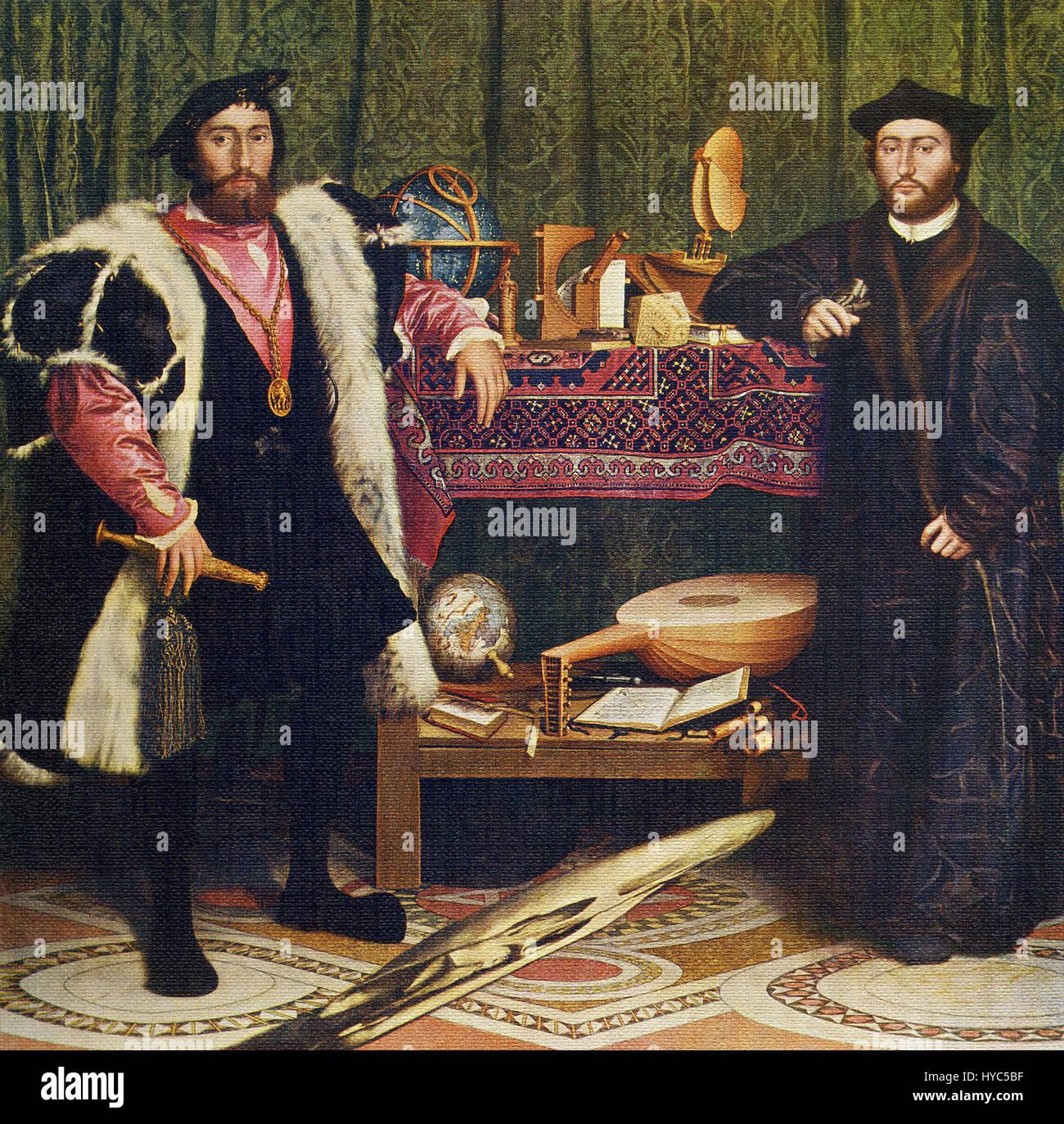 Hans Holbein der jüngere (1497-1543) war ein hervorragender Künstler der deutschen Renaissance. Er verbrachte Stockbild