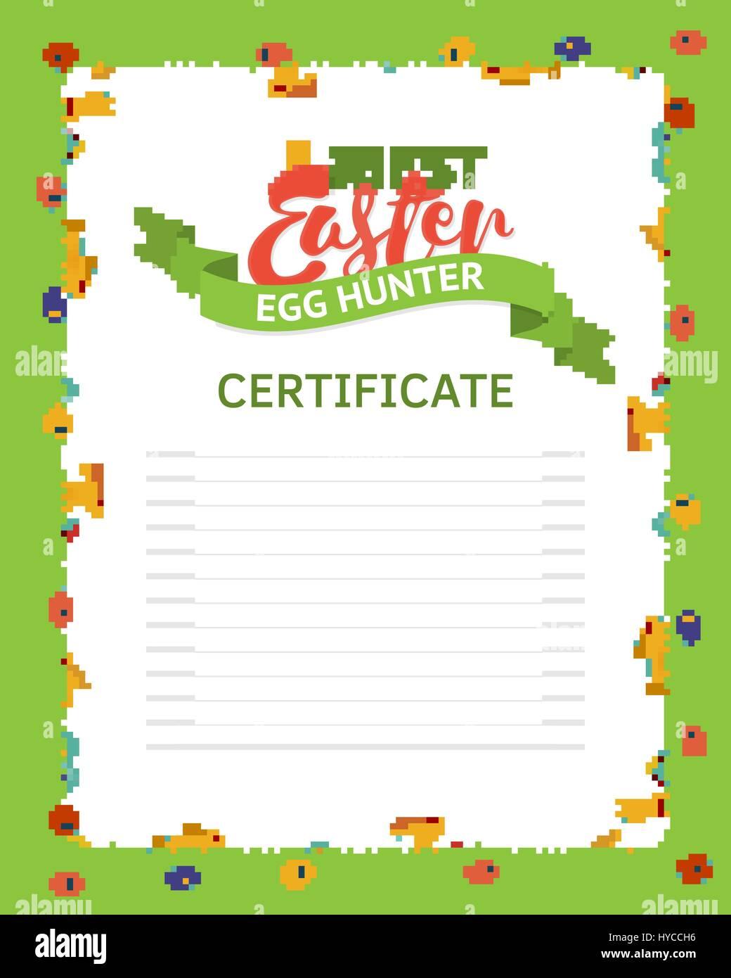 Die besten Jäger Zertifikatvorlage Osterei. Ein Rahmen gefertigt von ...