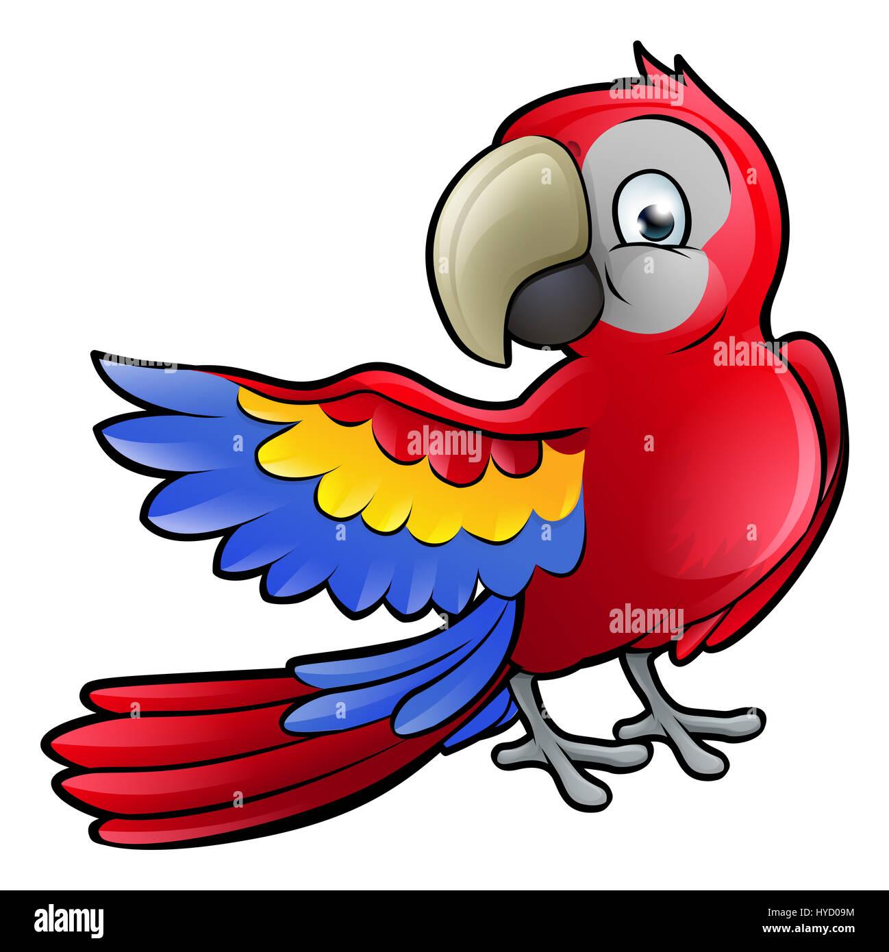 ein papagei vogel safari tiere comic figur stockfoto  bild Pirate Treasure Clip Art Pirate Parrot Clip Art Black and White