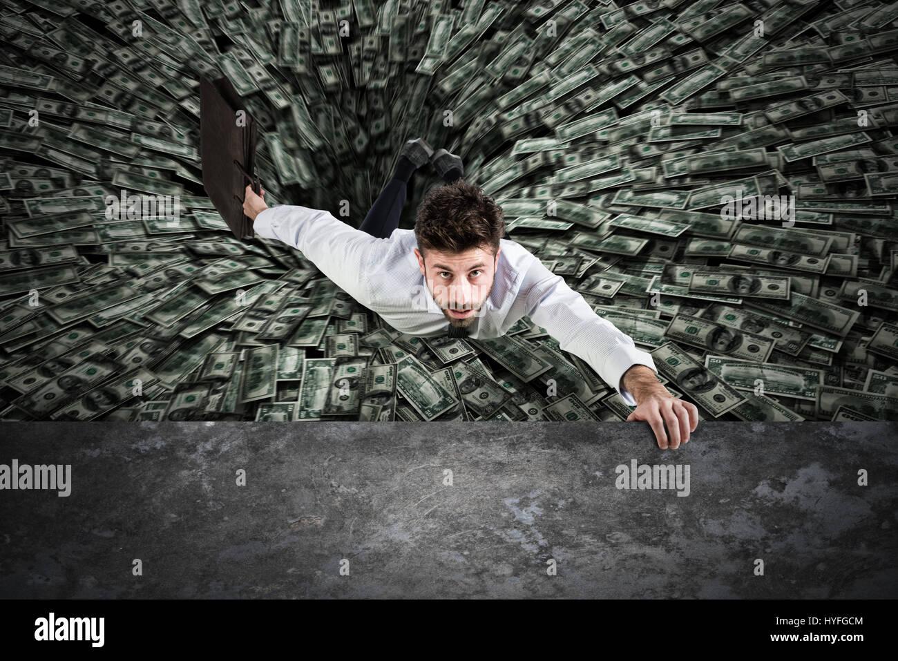 Schwarzes Loch des Geldes Stockbild