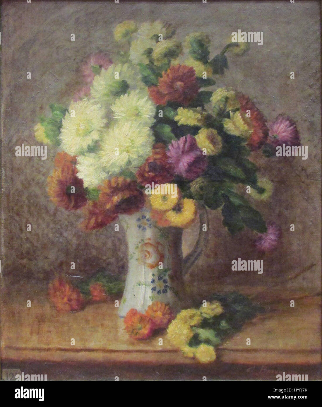 Oil Painting On Canvas Bouquet Stockfotos & Oil Painting On Canvas ...