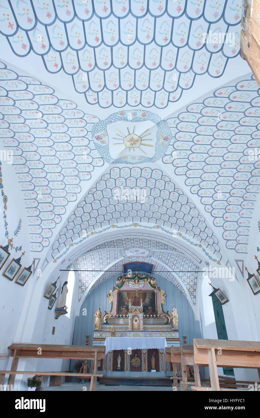 Frankreich, Savoyen (73), Région du Beaufortain, Arèches, Hameau de Boudin, la Chapelle Saint-Jacques, Stockbild