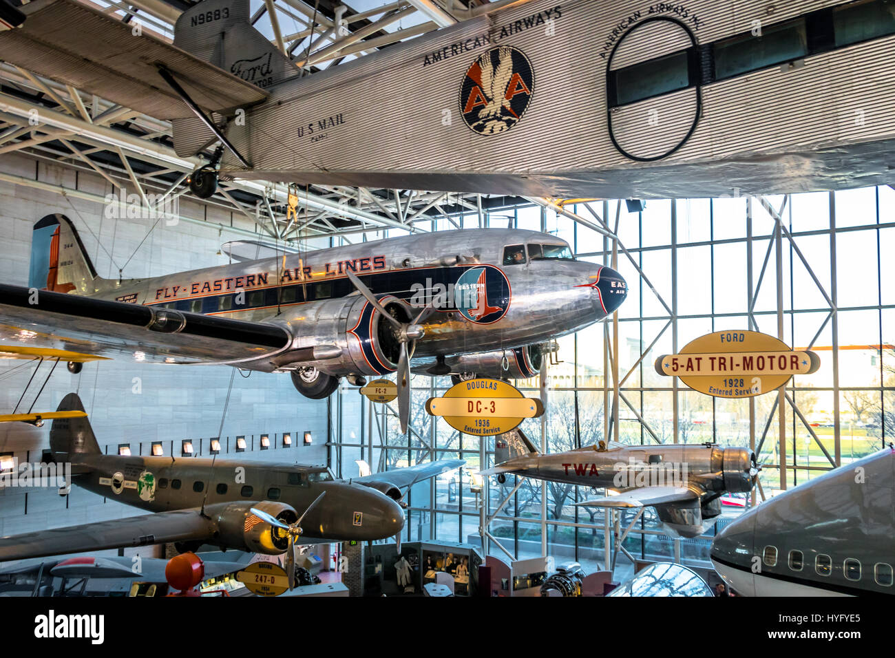 Innenraum Des National Air And Space Museum Der Smithsonian