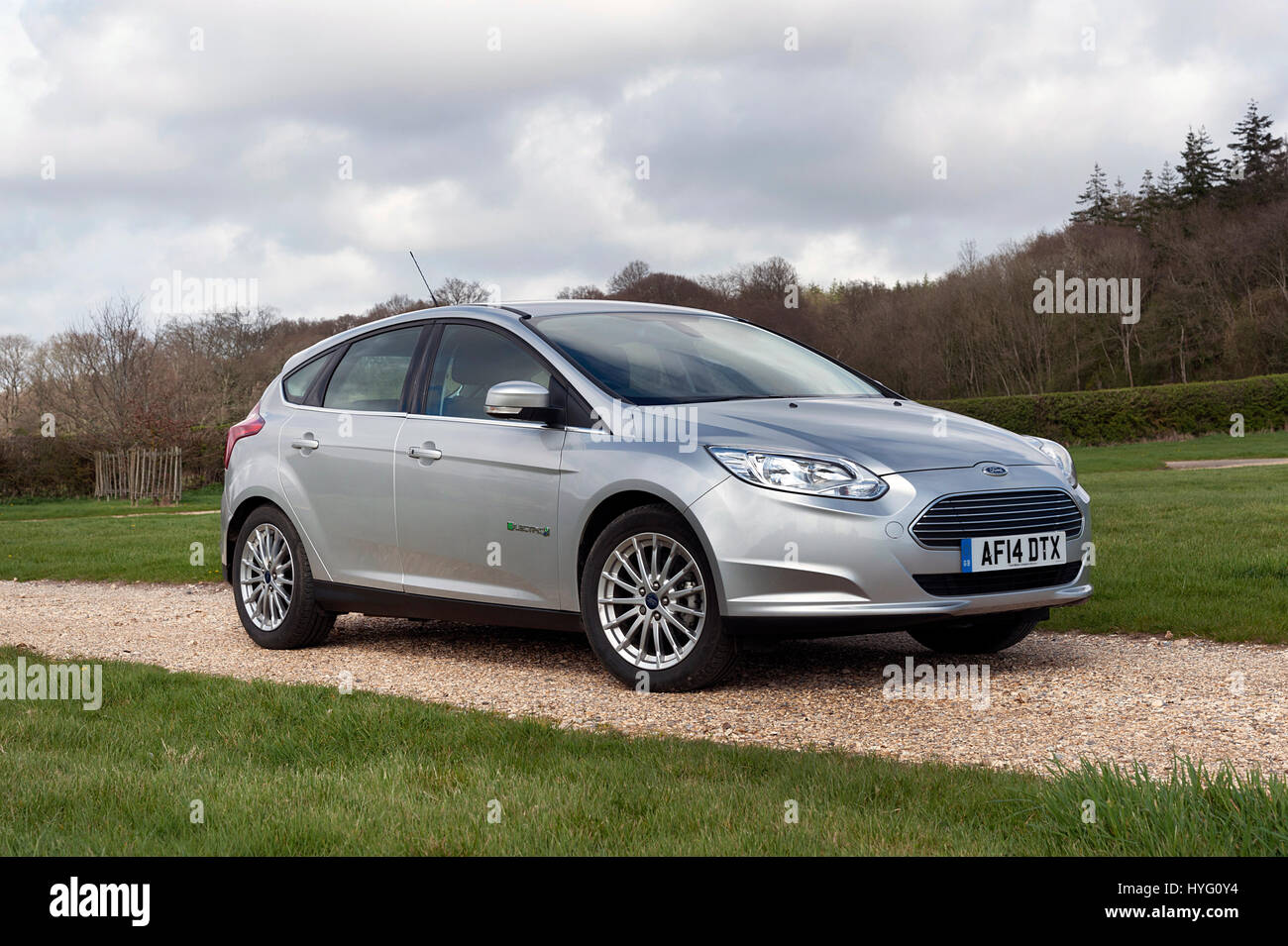 Ford Focus Electric Car 2014 Stockbild