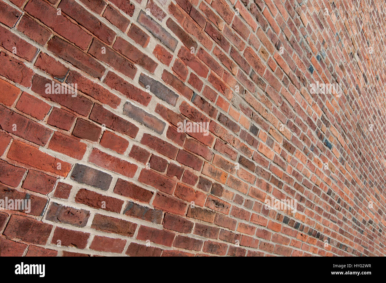 Ziegel Wand Perspektive: Eine Mauer Rekonstruiert Mit Alten Ziegel Formen  Ein Mosaik Aus Farben Und Formen.