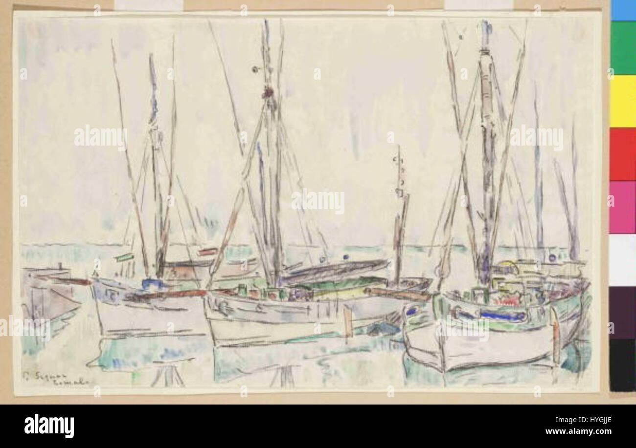 Paul Signac 11. 11. 1863 15. 8. 1935 Lomalo Stockfoto
