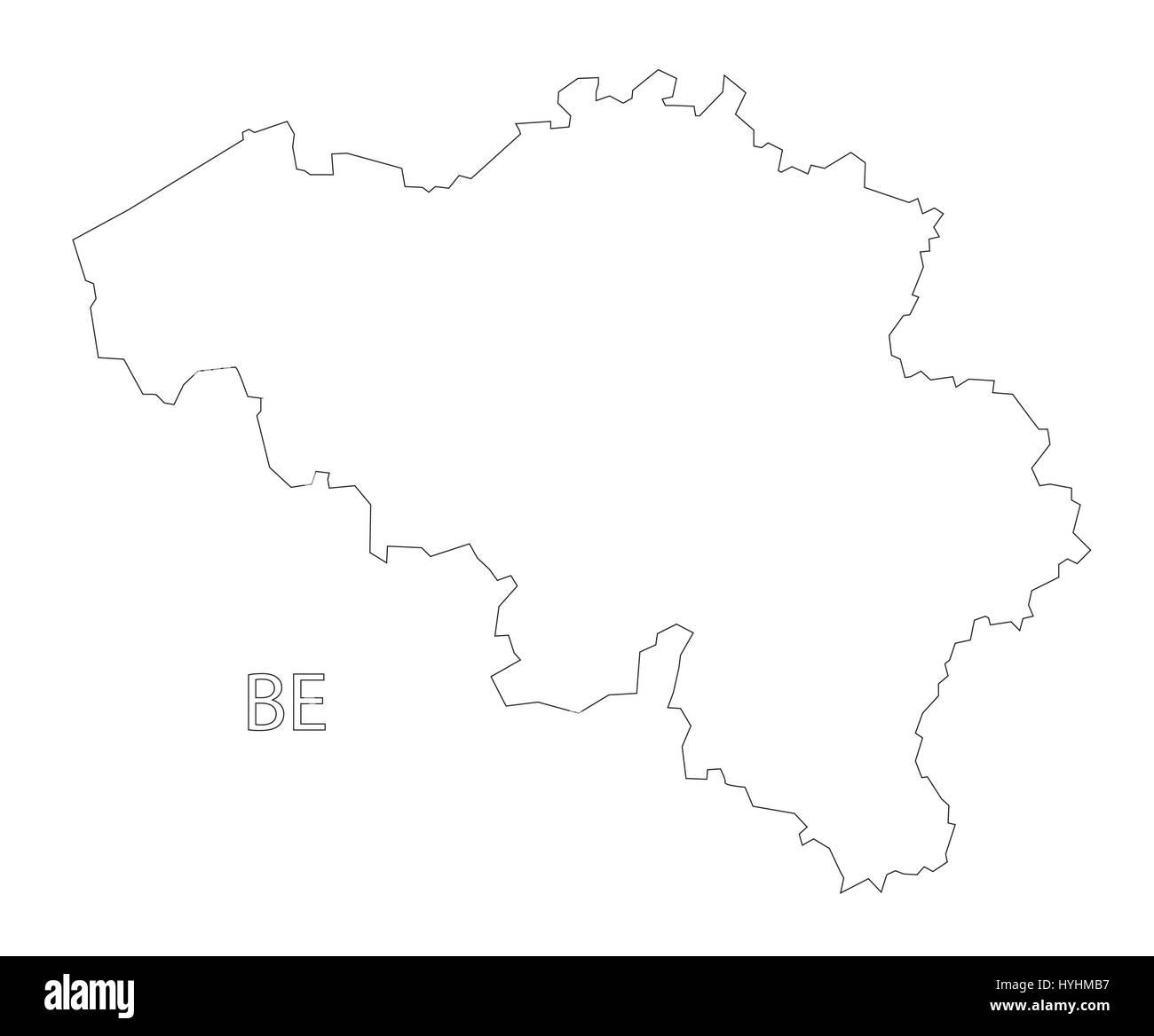Belgien Karte Umriss.Belgien Umriss Silhouette Karte Abbildung Vektor Abbildung Bild