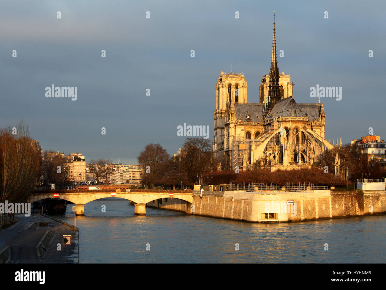 Notre-Dame in Paris, Frankreich Stockbild