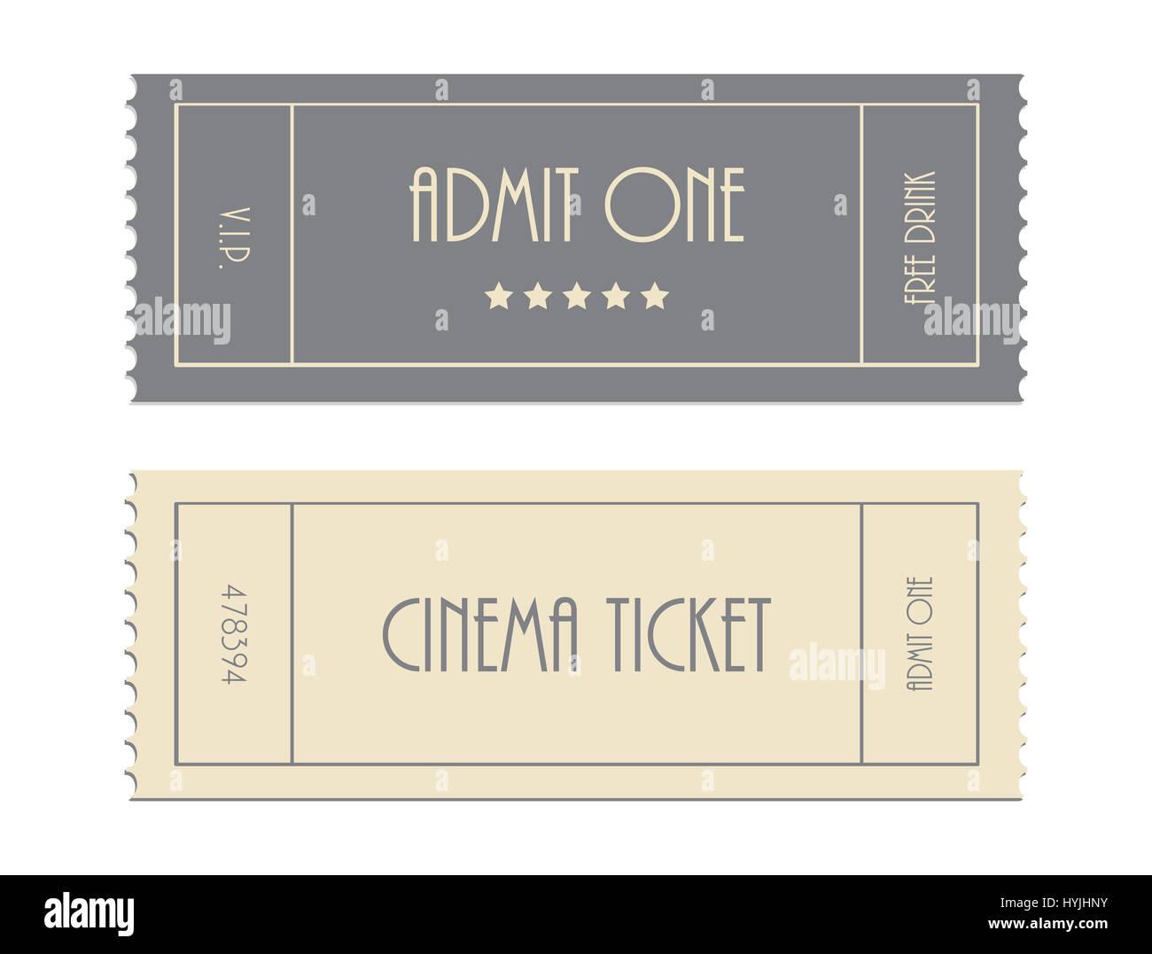 spezielle Vektor Ticketvorlage zugeben einer Kinokarte Stockfoto ...