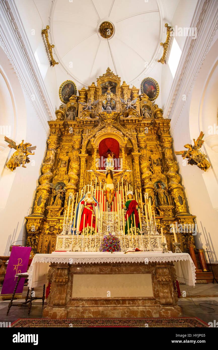 Kirche San Mateo. Jerez De La Frontera, Cadiz Provinz. Andalusien Südspanien, Europa Stockbild