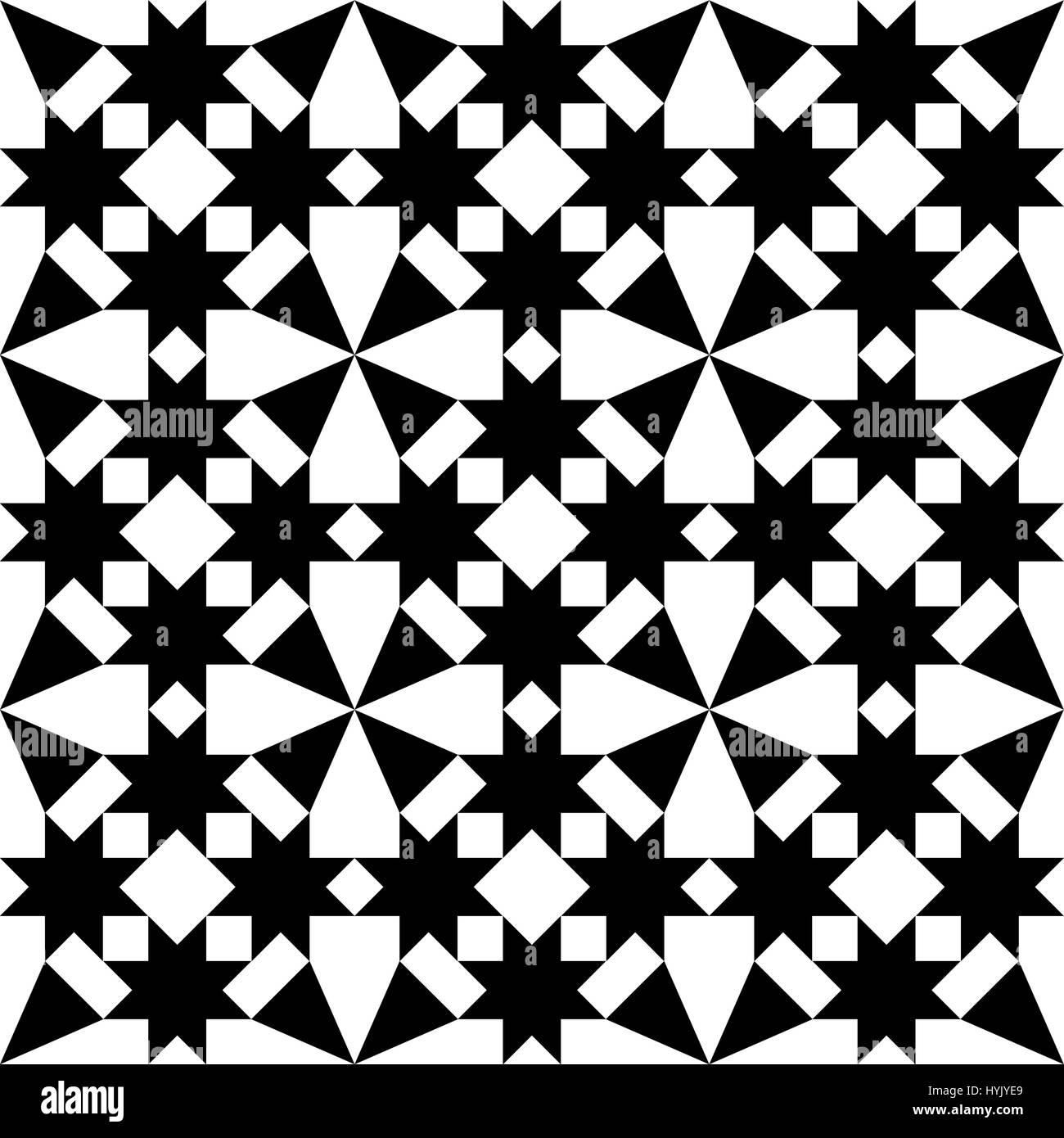 Marokkanische Fliesen Design, geometrische nahtlose schwarze ...